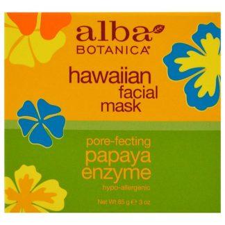 Alba Botanica, Hawaiian Facial Mask, Pore-Fecting Papaya Enzyme, 3 oz (85 g)