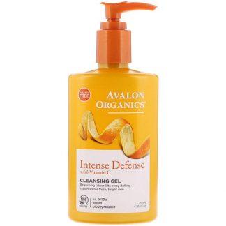 Avalon Organics, Intense Defense with Vitamin C, Cleansing Gel, 8.5 fl oz (251 ml)