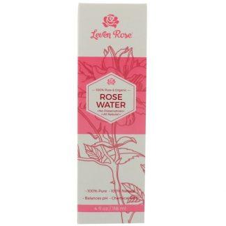 Leven Rose, 100% Pure & Organic Rose Water , 4 fl oz (118 ml)