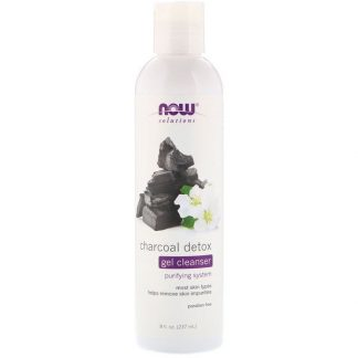 Now Foods, Solutions, Charcoal Detox Gel Cleanser, 8 fl oz (237 ml)