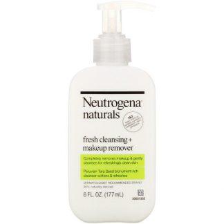 Neutrogena, Neutrogena, Naturals, Fresh Cleansing + Makeup Remover, 6 fl oz (177 ml)